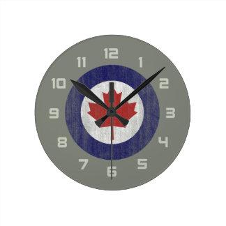 Canada roundel round clock