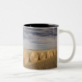 Canada, Saskatchewan, Craik: Hayrolls / Autumn Two-Tone Coffee Mug
