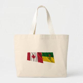 Canada & Saskatchewan Waving Flags Bag