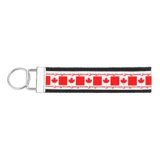 CANADA SHOOTS! CANADA SCORES!+Maple Leaf Wrist Keychain