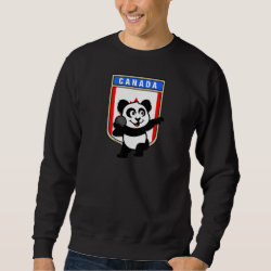 Men's Basic Sweatshirt with Canadian Shot Put Panda design