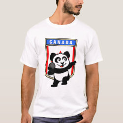 Men's Basic T-Shirt with Canadian Shot Put Panda design