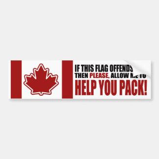 CANADÁ si esta bandera le ofende Pegatina Para Auto
