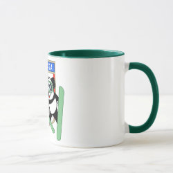 Combo Mug with Canadian Ski-jumping Panda design