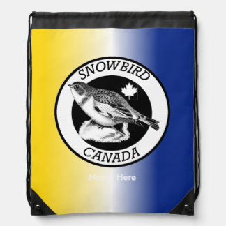 Canada Snowbird Shield Drawstring Backpack
