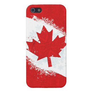 Canada Snowflake Cover For iPhone 5
