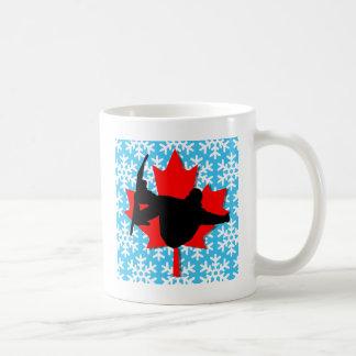 Canada snowflake snowboarding mugs