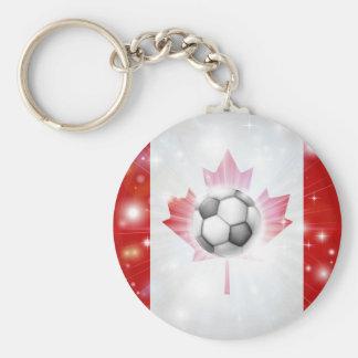 Canada soccer flag key chains