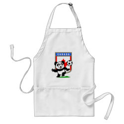 Apron with Canada Football Panda design