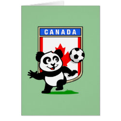 Greeting Card with Canada Football Panda design