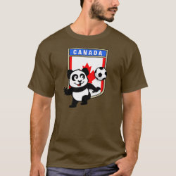 Men's Basic Dark T-Shirt with Canada Football Panda design