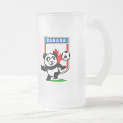 Frosted Glass Mug with Canada Football Panda design