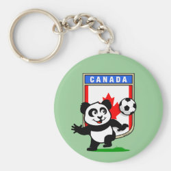 Basic Button Keychain with Canada Football Panda design