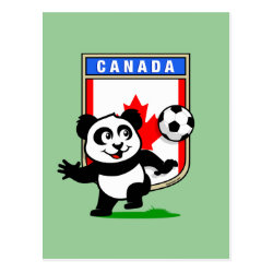 Postcard with Canada Football Panda design