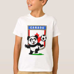 Kids' Hanes TAGLESS® T-Shirt with Canada Football Panda design