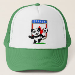 Trucker Hat with Canada Football Panda design