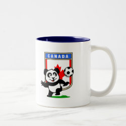 Two-Tone Mug with Canada Football Panda design