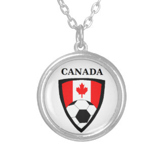 Canada Soccer Silver Plated Necklace
