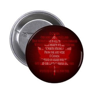 Canada Souvenir Button Canada Anthem Button & Pin