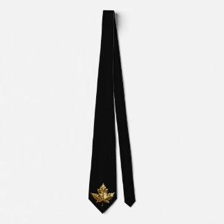 Canada Souvenir Tie Gold Medal Canada Flag Tie