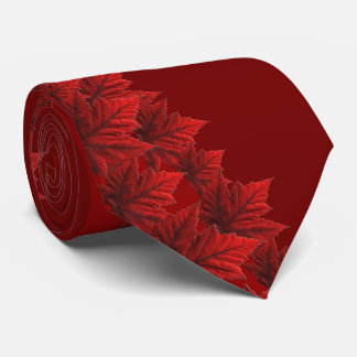 Canada Souvenir Tie Red Maple Leaf Canada Neckties