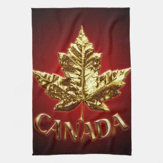 Canada Souvenir Towel Gold Canada Tea Towel
