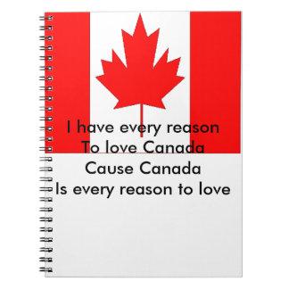 Canada Spiral Notebook