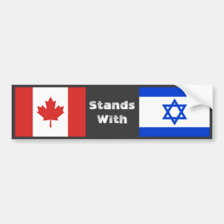 Canada Stands With Israel Bumper Sticker