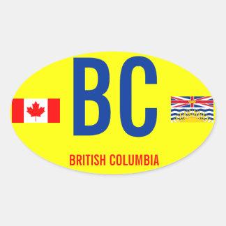 Canadá, stcker británico del óvalo del Euro-estilo Pegatina Ovalada