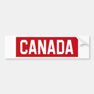 Canada Stencil Bumper Sticker
