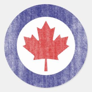 CANADA ROUND STICKERS