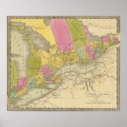 Canadá superior 4 póster