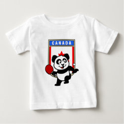 Baby Fine Jersey T-Shirt with Canadian Table Tennis Panda design