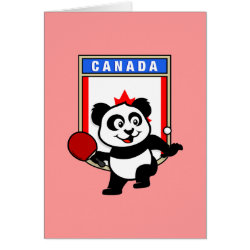 Canadian Table Tennis Panda T Shirts Gifts