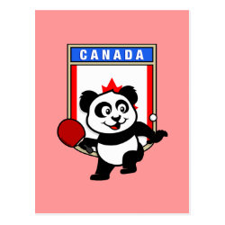 Postcard with Canadian Table Tennis Panda design
