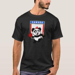Men's Basic Dark T-Shirt with Canadian Table Tennis Panda design