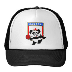 Trucker Hat with Canadian Table Tennis Panda design