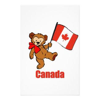 Customized Teddy Bears on Bear Flag Stationery  Custom Bear Flag Stationary