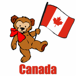 Canada Teddy Bear Cut Outs