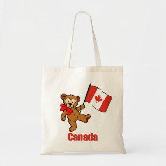Canada Teddy Bear Tote Bag