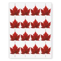 Canada Temporary Tattoo Canada Maple Leaf Souvenir