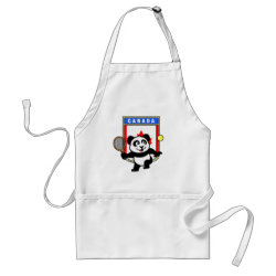 Apron with Canadian Tennis Panda design