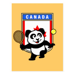 Postcard with Canadian Tennis Panda design