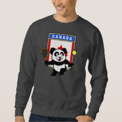 Canadian Tennis Panda Men's Basic Sweatshirt