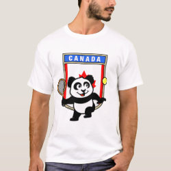 Canadian Tennis Panda Men's Basic T-Shirt