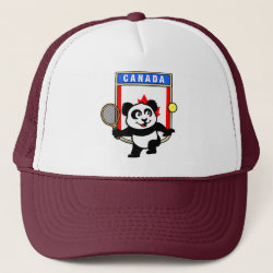 Trucker Hat with Canadian Tennis Panda design