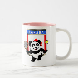 Two-Tone Mug with Canadian Tennis Panda design