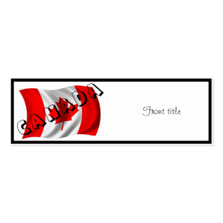 CANADA Text on Canadian Flag Business Card Template