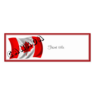 CANADA Text on Canadian Flag Business Cards