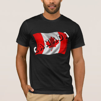 CANADA Text on Canadian Flag T-Shirt